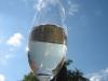 Sektglass in der Sonne