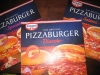 Verpackte Pizzaburger