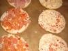 Pizzaburger auf dem Blech